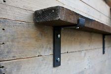 Metal Shelf Brackets 100mm Scaffold Board Industrial Steel Shelving (Set of 2)