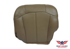 1999-00-01-02 Chevrolet Silverado Driver Bottom Leather Seat Cover MED NEUT TAN