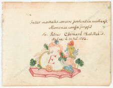 """Sheet from the Album of a Medicine Student"", watercolor, 1752"