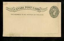 Postal Stationery Canada H&G #12 Uni #Ux11 postal card 1893