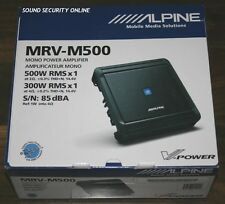 "ALPINE MRV-M500 CLASS D MONO SUBWOOFER POWER AMPLIFIER ""BRAND NEW"""