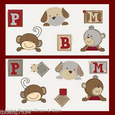 COCALO Buttons Bear Monkey Puppy Dog Wall Sticker Decal