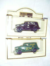 2 x Lledo Days Gone Die Cast Chevrolet Panel Vans- Lipton's Tea and Fry's Cocoa