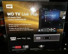 NEW / Sealed Western Digital WD TV Live Plus HD Media Player WDBABX0000NBK-NESN