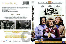 A Letter to Three Wives (1949) - Joseph Mankiewicz, Jeanne Crain   DVD NEW