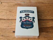 More details for rare new smirnoff vodka deck of playing cards mancave pub memorabilia poker