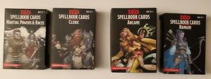 SET OF 4 -  Dungeons and Dragons Spellbook Cards D&D 5E lot Gale Force Nine