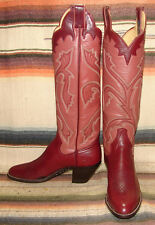 Womens Vintage Panhandle Slim Maroon Leather Tall Cowboy Boots 5.5 B New In Box