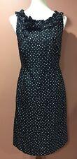 Kate Spade New York Courtney Polka Dot Black White Dress Size 10 Read*