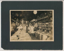 Rare Cabinet Real Photo Interior Market General Store Grocery Shop Occupational