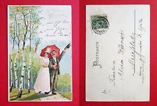 Künstler Litho AK von MAILICK 1900 Pfingsten Paar   ( 22725