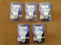 5X LED spot Bulbs E27 5.8w =37w German A+ CLASS large screw 230/240V NEW MRP£25