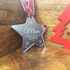 """SPECCHIO personalizzato per albero di Natale decorazione pallina """"per ricordare la mamma a Natale"""""""