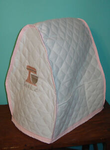 KitchenAid Mixer Appliance Cover~ White Quilted~Pink Mixer Emblem~Bowl Lift~Bake