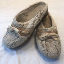 AMERICAN EAGLE IVORY SWEATER CLOGS MULES SHOES TAN SOLE SIZE 8 1/2