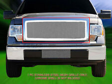 For 09-12 Ford F-150 F150 Stainless Steel Mesh Grille Grill Upper Insert Fedar