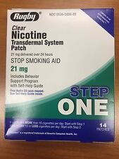 14 Rugby Nicotine Transdermal System Step 1 Patches 21mg Expires: 12/2019