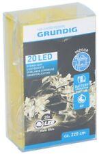Luci natalizie 20 LED 220cm a batteria da interno bianco caldo Grundig