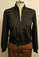 Ralph Lauren Women Zip Front Varsity Harrington Pinstripe Jacket 4P THESPOT917
