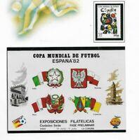 Mundial de Futbol España 82 Sello y Hojita del año 1982 (ET-512)