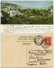 PLYMOUTH SHIP LETTER POSTMARK from CANARY ISLANDS 1907 PPC to SEVENOAKS REDIRECT