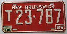 New Brunswick 1968 TRAILER License Plate HIGH QUALITY # T23-787