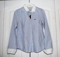 2010 Vintage Abercrombie  Hollister size M  women's  blue button front shirt