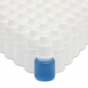 50pcs Plastic Dropper Bottle 5ml for Light Oils Paint Essence Eye Drops Saline