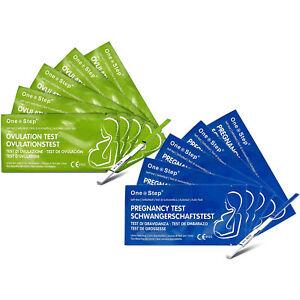 50 Ovulation Tests + 10 Pregnancy Test Strips Fertility Urine Kits - One Step