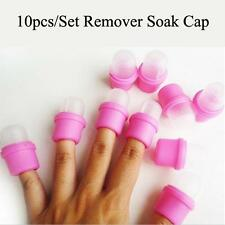 10PCS/Set DIY Acrylic Wearable Remover Polish Gel Soakers Nail Cap Tools CA