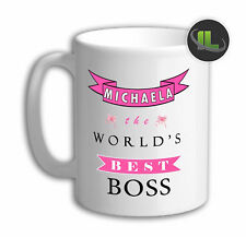Personalised The World's best Boss Mug. Customise with your own text.FOC. IL6467