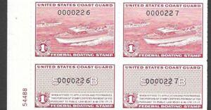 Revenue - Federal Boating Stamp - RVB1 - PN Block 4 (REDUCED)