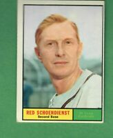 1961 TOPPS #505 RED SCHOENDIENST ST. LOUIS CARDINALS EX+ OC