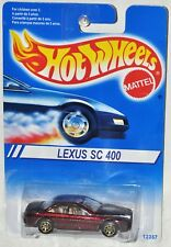 Hot Wheels 1995 Lexus SC 400 Gold 7 spoke wheels International Card MOC VHTF