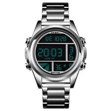 b1ff33ccb28d Skmei hombres LED Digital reloj deportivo de acero inoxidable resistente al  agua