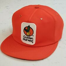 Vintage Golden Harvest Snapback Trucker Hat Patch Cap Made in the USA