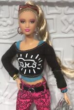 2019 Keith Haring Barbie doll NRFB Pop Art Graffiti