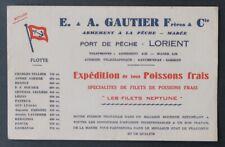 Buvard GAUTHIER LORIENT Port de pêche Poissons frais Filets Neptune blotter 2