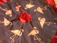NEW TROPICAL PINK FLAMINGO CHRISTMAS TREE SKIRT 4 FT ROUND