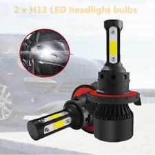 2PCS 4 Sides H13 9008 6000LM LED Headlight Bulb Kit Hi/Lo Beam 6000K Durable Kit