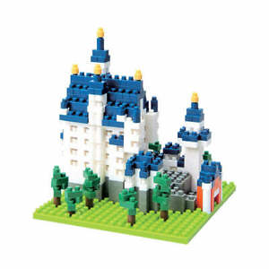 New NANOBLOCK Schloss Neuschwanstein Castle Nano Block MicroSized Blocks NBH_010