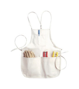 CLC  Heavy Duty 4 pocket Canvas  Tool Apron  29 in. 46 in. White  1 pk
