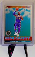 Lebron James 2019-20 Nba Hoops Premium Stock Zero Gravity Lakers #18