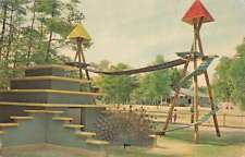 Coloma Michigan spiral stairway Deer Forest Paw Paw Lake vintage pc Z43935