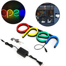 Ultra Bright Led Neon Sign Light Animated Motion Open Business Sign 40x15x3cm
