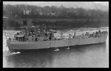 LST-1 US Navy WWII tank landing ship postcard