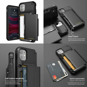 iPhone 11 Wallet Case Drop Protection Card Holder Slot Luxury Sturdy Cover Black