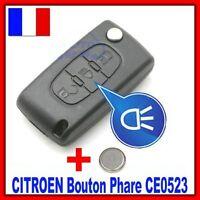 Coque PLIP Télécommande Pour CITROEN Picasso C2 C3 C4 C5 C6 3 Boutons CE0523