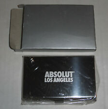 Brand New Rare Absolut Vodka Los Angeles Business Card Holder Stainless Steel Co