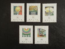 MALTA STAMPS 1995 - HISTORY OF TELECOMMUNICATIONS  - SET OF FIVE STAMPS - MNH